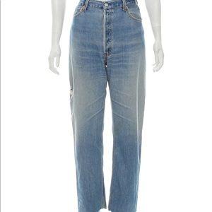 Re/done high waist straight leg levi light jeans